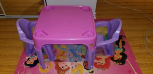 Pink and purple kids table