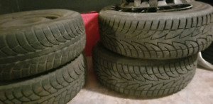 Winter tires with steel rims for sale