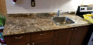 6ft counter top and stainless steel sink