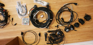 Various cables and power adapters