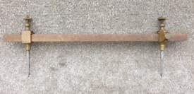 Trammels brass body steel point antique