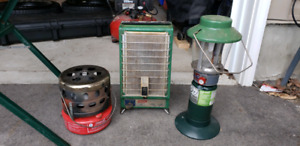 Coleman lantern and heaters