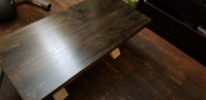 Solid wood coffee table in black walnut stain