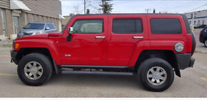 2007 HUMMER H3 SUV -RED- LOW KMS!
