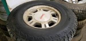LT265/75R16 hankook Dynapro tire+rims 80%