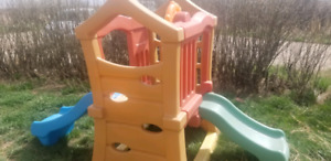 Step 2 climber with double slide