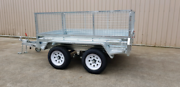 8x5TANDEM trailers come with cage and free jockey wheel rest free Warrnambool Warrnambool City Preview