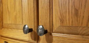 Railway spike cabinet knobs