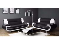 SPECIAL PRICE- BRAND NEW CAROL 3+2 OR CORNER SOFA BLACK AND WHITE/BLACK AND RED + DELIVERY