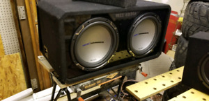 Mtx jackhammer 12 inch subs in ported box