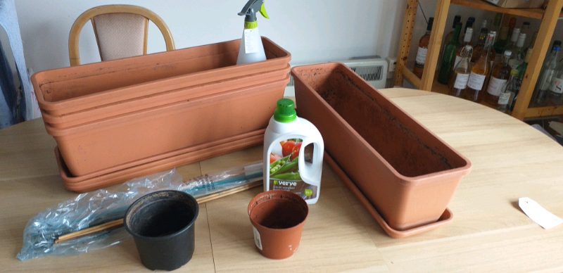 Assorted Gardening Bits Planters Trays Feed And Canes In Sheffield South Yorkshire Gumtree