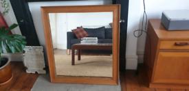 Large Antique Oak Mirror