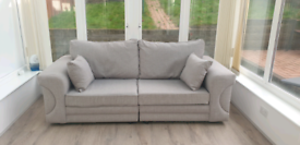 Grey 3 Seater - Quality Sofa, Like New - Only £160