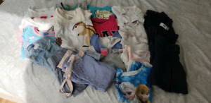 Used 3T to 4T toddler girls T shirt and pants