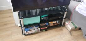 Glass TV stand shelf
