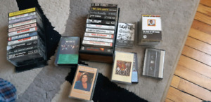 Rock and country  cassette  tapes