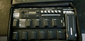 Line 6 Pod XT live with manual and chords guitar effects