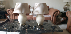 2 large table top lamps