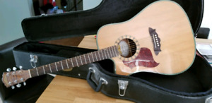 Washburne D46SCE left handed acoustic/electric  with case