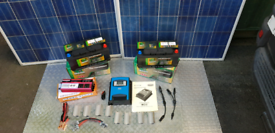 Solar Panel Kit Campervan Off Grid with Leisure Batterys,530W
