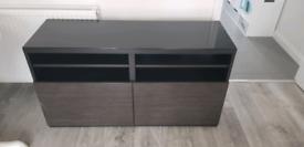 Ikea Besta TV bench\stand black-brown