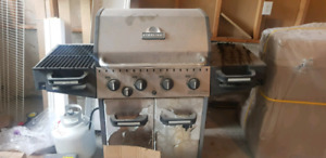 Gas fire grill
