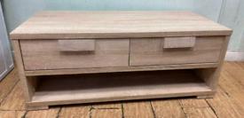 TV unit light lime oak effect stand