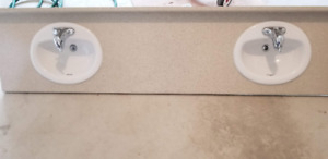 *** x3 Bathroom Vanity Countertops with Sink and Faucets ***