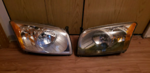 Dodge Caliber passenger and driver side headlight assembly.