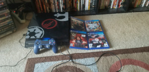Ps4 1 Tb pro with 4 games  n controller