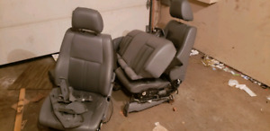 2005-2010 jeep grand cherokee leather seats front and back gray
