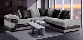 **7-DAY MONEY BACK GUARANTEE!** - Dino Premium Fabric Corner Sofa Suite - SAME/NEXT DAY DELIVERY!