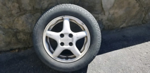 185/65/r14 summer tires mounted on rims