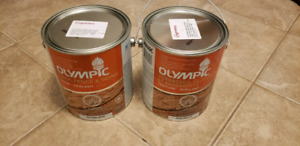 2 unopened cans of olympic stain (Espresso).