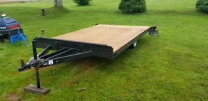 Homemade flat deck trailer.