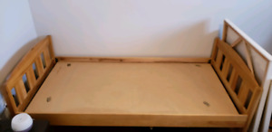 Single bed frame solid birch