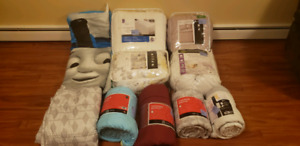 Assorted bedding items