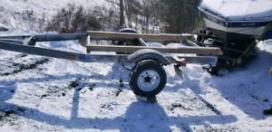 Galvanized easy load bunk trailer
