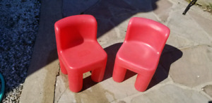 Pair of little tikes chairs.