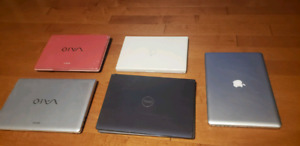 Laptops for sale  (macbook, sony, dell)