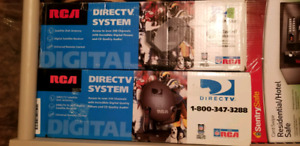 DIRECT TV receiver and satellite dish