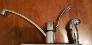Kitchen  faucet with hose.