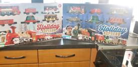 2 holiday Express xmas train sets