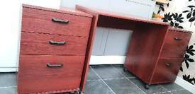 Mahagonay 3 piece desk chest of drawers