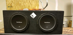 Rockford fosgate 10inch subs in sealed box