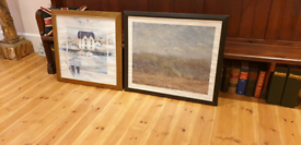 2 x large framed pictures