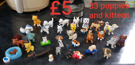 Little figures 33 puppies and kittens £5, 22 ponies £3, 17 dinosaurs