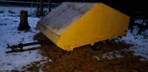 CLAM STYLE SNOWMOBILE TRAILER, $750 WITH OWNERSHIP