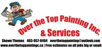 Over the top painting Inc. Get Up to 20% off for Nov & Dec