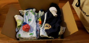 A box of boys clothes 0 to 3 months $5